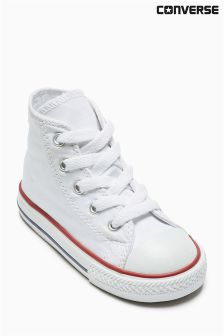White Converse Chuck Hi Top