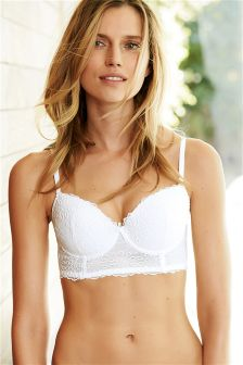 Phoebe Light Pad Embroidery Longline Bra