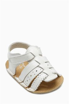 Leather Pram Sandals (Younger Girls)