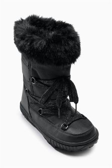 Black Snow Boots (Older Girls)