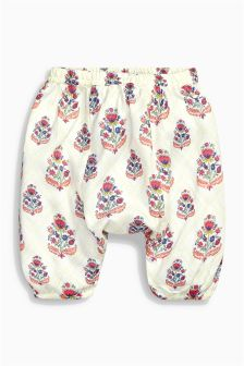 Ecru Printed Slouch Trousers (0mths-2yrs)
