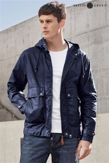 Navy Pretty Green Wren Coated Jacket