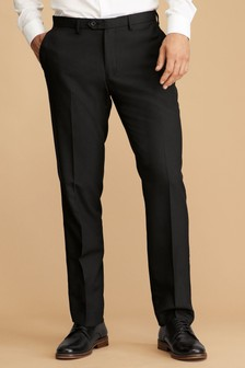 Plain Front Slim Fit Trousers