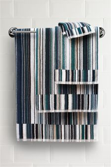 Blue Skinny Striped Towel