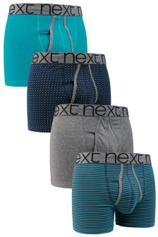 Teal Mix A-Fronts Four Pack