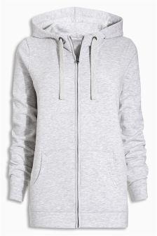 Grey Zip Through Hoody