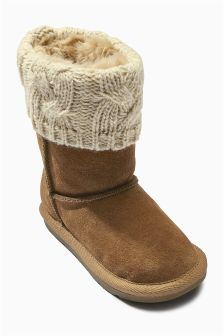 Knit Pull-On Boots (Younger Girls)