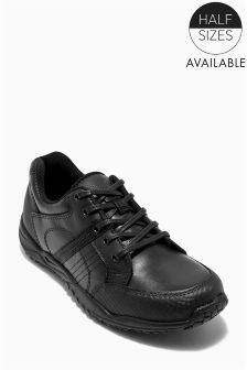 Black Sporty Lace-Up Shoes (Older Boys)