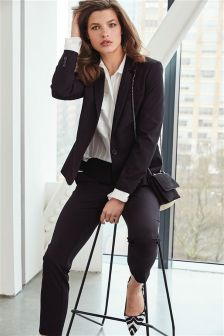 Black Tailored Single Breasted Jacket