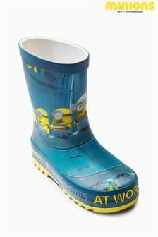 Blue Minions Wellies (Younger Boys)