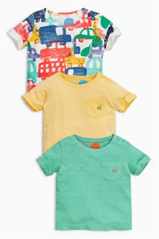Multi Short Sleeve T-Shirts Three Pack (0mths-2yrs)
