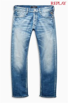 Light Wash Replay® Newbill Comfort Fit Jean