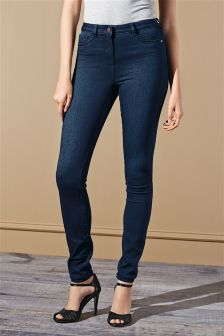 Dark Blue Denim Leggings