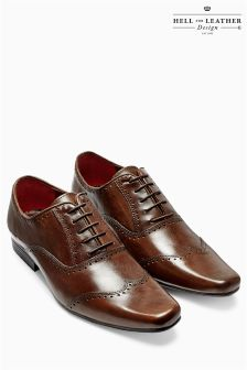 Brown Punch Wing Cap Lace-Up