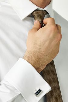 Silver Tone Best Man Wedding Cufflinks