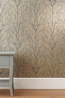 Mink Twigs Wallpaper