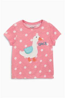Pink Duck T-Shirt (3mths-6yrs)