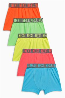 Five Pack Fluro Waistband Trunks (2-16yrs)