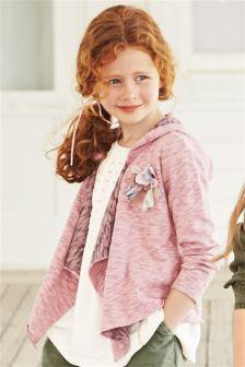 Pink Jersey Cardigan (3-16yrs)