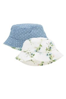 Blue/White Floral and Spot Fisherman Hats Two Pack (Younger Girls)