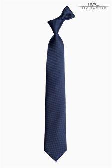 Navy Signature Silk Tie
