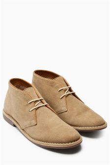 Suede Trim Desert Boot