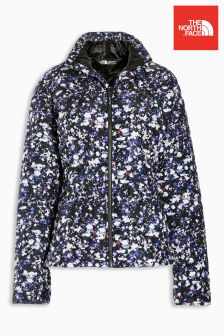 The North Face® Black Floral Thermoball Jacket