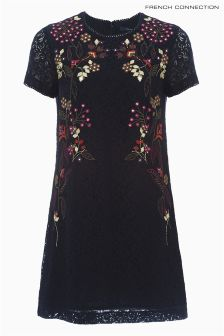 French Connection Blue Legere Lace Dress