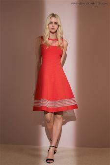 French Connection Orange Tobry Crepe Dress