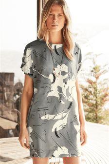 Twist Sleeve Dress