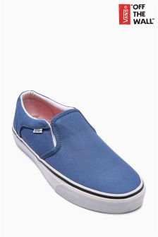 Navy/White Vans Slip On