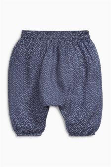Indigo Print Slouch Trousers (0mths-2yrs)