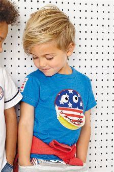 Blue Zip Mouth T-Shirt (3mths-6yrs)