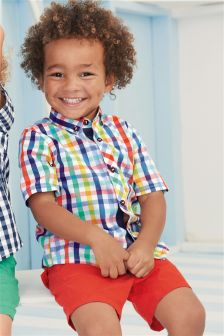 Multi Short Sleeve Gingham Shirt (3mths-6yrs)