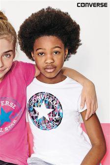 White Converse Spray Paint Chuck T-Shirt
