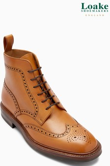 Loake Tan Brogue Boot