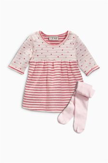 Pink Strawberry Dress (0mths-2yrs)