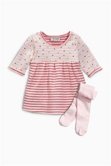 Pink Strawberry Dress (0mths-2yrs)