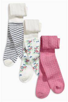 Pink Tights Three Pack (0mths-2yrs)