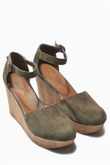 Suede Two Part Wedges