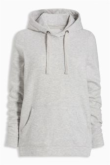 Grey Over Head Hoody