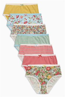 Multi Blossom Briefs Seven Pack (1.5-16yrs)