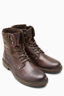 Brown Borg Zip Boot