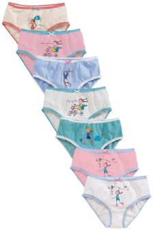 Multi Girl Briefs Seven Pack (15-12yrs)