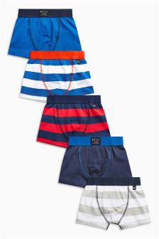 Multi Bold Stripe Trunks Five Pack (2-16yrs)