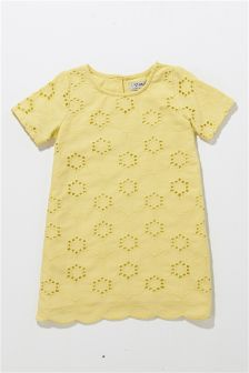 Yellow Broderie Dress (3mths-6yrs)