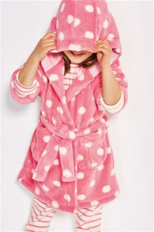 Pink Spot Robe (12mths-6yrs)