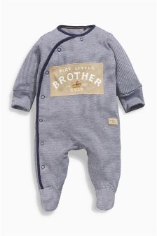 Navy Little Brother Sleepsuit (0-18mths)