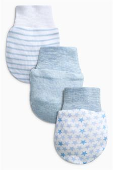 Blue Scratch Mitts Three Pack