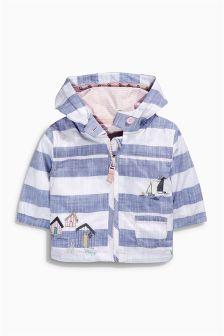 Blue/White Stripe Embellished Jacket (0mths-2yrs)
